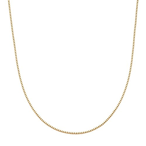 Venetian Link Chain (10k Yellow Gold Venetian Box-Link Chain Necklace 20