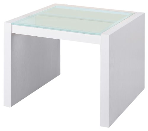 Organize It All Dawn Coffee Table with Glass Top - Maple Modern Coffee Table