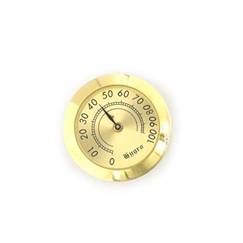 50mm/37mm Round Glass Analog Hygrometer For Humidors Gold For Guitar Violin Cigar Tobacco Box