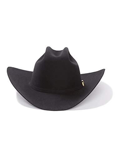 (Stetson Men's 100X El Presidente Fur Felt Western Hat Black 7 1/4)