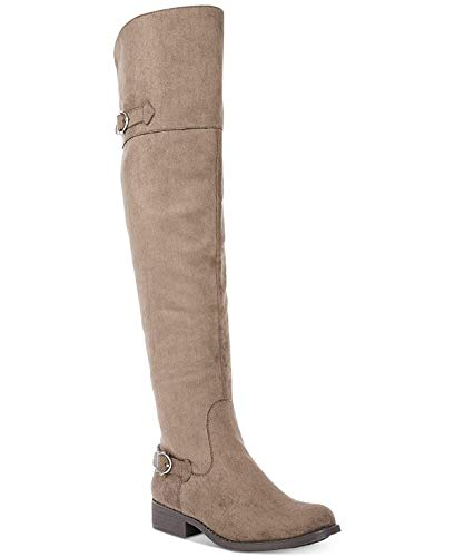 - American Rag Womens Adarra Closed Toe Knee High Fashion Boots, Truffle, Size 7.5