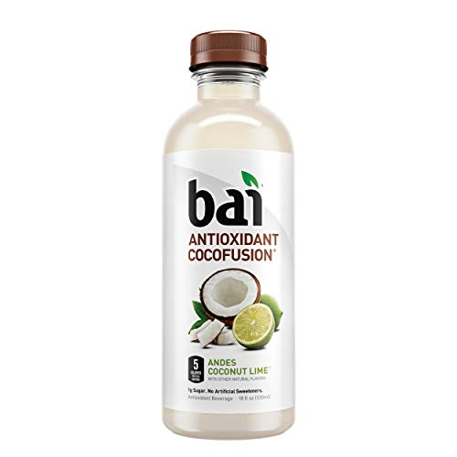 Bai Coconut Flavored Water, Andes Coconut Lime, Antioxidant Infused Drinks, 18 Fluid Ounce Bottles, 12 count ()