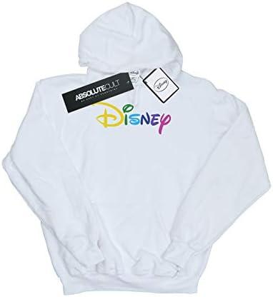 Disney Damen Colour Logo Kapuzenpullover Weiß Large