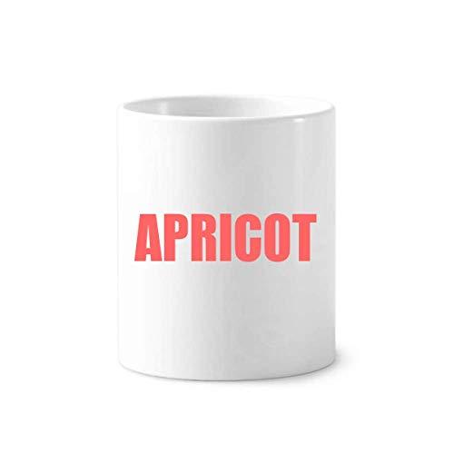 Apricot Fruit Name Foods Toothbrush Pen Holder Mug White Ceramic Cup 350ml