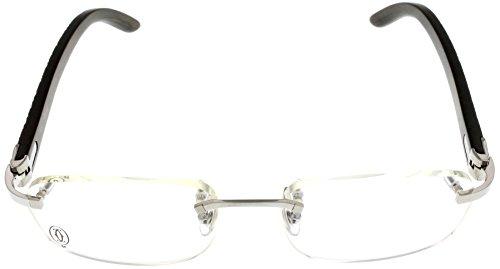 e99e675a59 Amazon.com  Cartier Prescription Eyeglasses Frame Wood T8100864 Rimless   Clothing