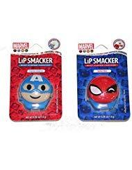 Disney Spider - Disney Emoji Super Cute Lip Balm Set of 2 - Captain America & Spider-man
