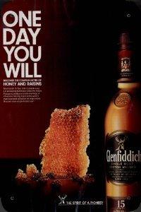 Honey Scotch (MAGAZINE AD For 2010 Glenfiddich 15 Year Scotch Honey And Raisins Scene)