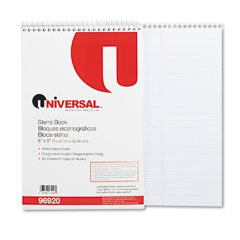 UNIVERSAL Steno Book, Gregg Rule, 6 x 9, White, 80 Sheets per Pad (Case of 36) by Universal