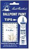 Bulk Buy: Aunt Marthain.s Ballpoint Paint Tubes Replacement Tips 6/Pkg RT1 (3-Pack)