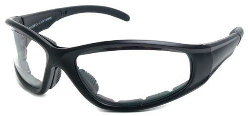 Readers.com Clear Bifocal EVA Safety Goggles +3.00 Black Frame with Clear Lenses Unisex Sport & Wrap-Around Reading Glasses by Cougar Sunglasses Company - Glasses Online Company