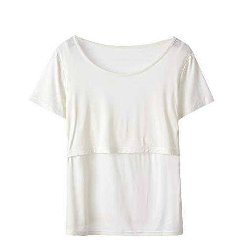 White Popolare Donna Maternity Incinta L'Allattamento T da Breastfeeding Manica Shirt Maglietta Bluse Maglietta a Donna Top Corta Tayaho aATqP