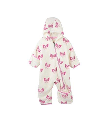 Hatley Baby Girls Mini Fuzzy Fleece Bundlers, Soft Butterflies, 6M-9M