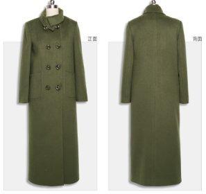 Manteau Aux Laine Tranchée Cachemire De Longue Bouton Femmes wx4xBqAUE