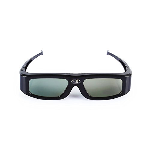 Active Shutter 3d Glasses (SainSonic Zodiac GX-30 3D Glasses Active Shutter 144Hz Rechargeable for ALL DLP-Link Ready Projectors, BenQ, Optoma, Dell, Mitsubishi, Samsung, Acer, Vivitek, NEC, Sharp, ViewSonic, Black)