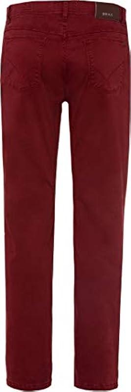 BRAX męskie spodnie Cooper Fancy Marathon płaska tkanina, czerwone (lato 2019), 32W / 34L: Odzież