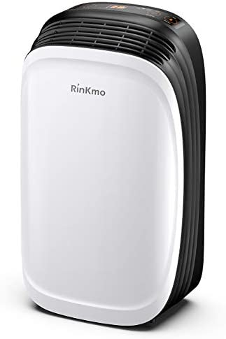 RINKMO 30 Pint Dehumidifier for Home Basements Bedroom Garage, Safe Mid Size Portable Dehumidifiers for Medium Spaces up to 1000 Sq Ft with Continuous Drain Hose Outlet to Reduce Moisture