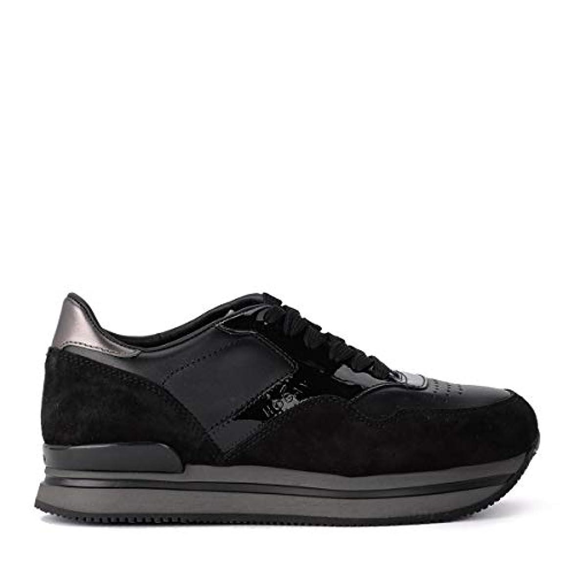 Hogan Sneaker H222 Nere In Pelle E Suede Taglia Uk