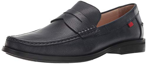 Marc Joseph New York Mens Genuine Leather Made in Brazil Cortlad Loafer Penny, navy grainy 10.5 M US (Shoes Mens Brazil)