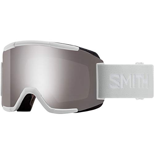 Smith Optics Squad - Asian Fit Adult Snowmobile Goggles - White Vapor/Chromapop Sun Platinum Mirror / One Size