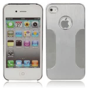 Plating Protective Hard Case for iPhone 4 Silver