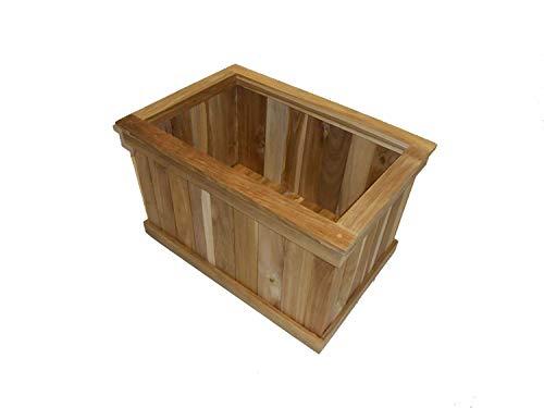 (Teak wood planter flower herb window box garden 24