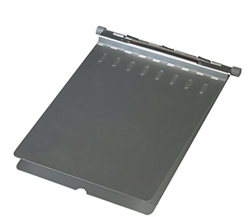 Pivit Hospital Chart Holder | 9'' x 12'' | Matte-Finish Anodized Aluminum with Rounded Corners and Edges | Three Coil Spring Thumb-Notch for Easy Opening | Complete with Two Rubber Bumpers & Name Plate by pivit