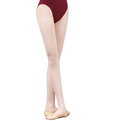 Girl's Footed Ballet Tights Classical Dance Tight in Children and Adults Sizes (L(age above 15), Pink)
