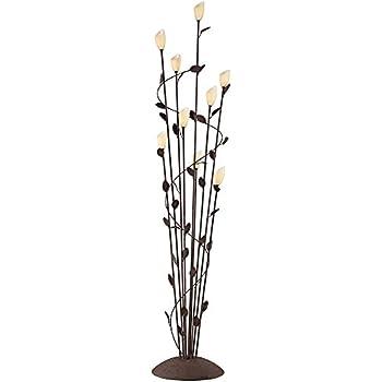 Ok Lighting Ok 9138 Flower Glass Shade Metal Floor Lamp