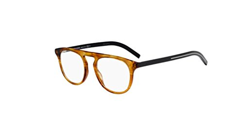 Authentic Christian Dior Homme Black tie 249 0P65 Brown Yellow Havana Eyeglasses (Christian Dior Tie Mens)