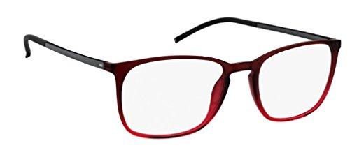 Montura 55 Burdeos Hombre Gafas Rojo De Silhouette Para dwfCda