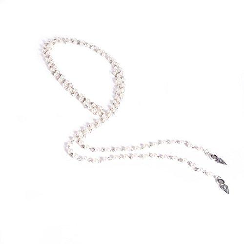 Muranba Women Fashion Long Vintage Pearl Necklace Choker Chains Charm Necklet (White)