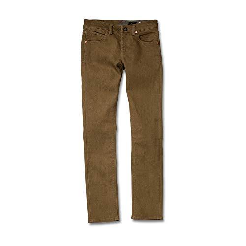 Volcom Big Boys' 2x4 Jeans, Wet Sand 25