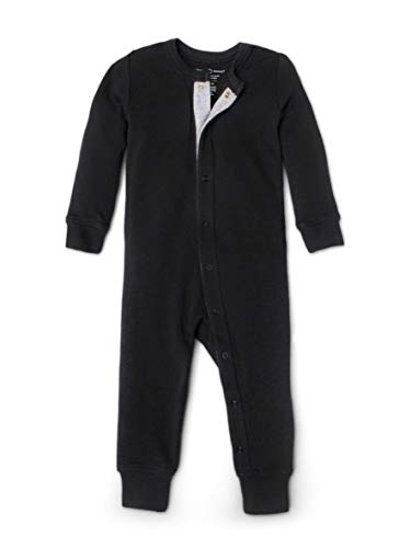 Colored Organics Unisex Baby Organic Cotton Emerson Sleeper - Long Sleeve Infant Coverall - Black - 18-24M