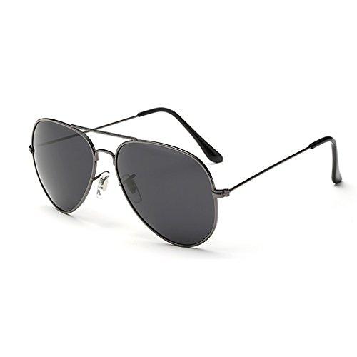 Color Gafas Gray Hombres Los de Polarizadas del De Sol Metálico Sol Gray Marco TLMY De Gafas wvZPHqHTO