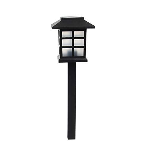Garden Lawn Courtyard Patio Light Lamp Chinese Eastern Lantern Style Waterproof LED Solar Landscape Light Garden Lawn Yard Park Square Decoration 9.528.5cm Positive White Light/Warm Yellow Light