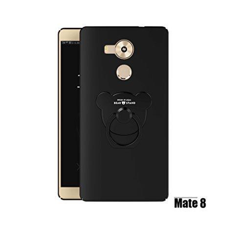 Manyip Huawei Mate 8 Cases and covers Alta Calidad Ultra Slim Anti-Rasguño y Resistente Huellas Dactilares Totalmente Protectora Caso de Plástico Duro Cover Case,+Ring stand holder(AQM-08) C