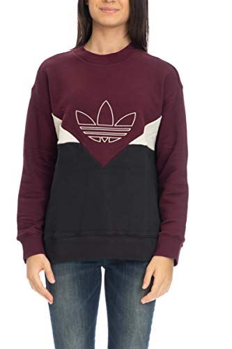 Felpa Adidas panna Bordeaux Girocollo nero Originals 8nZnqvF0