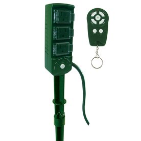 remote controlled christmas light show 3 outlet outdoor power cord stake 4 functions
