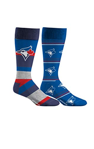 Toronto Blue Jays Dress Socks 2 Pack Mens Shoe Size 8-13 2 Pairs