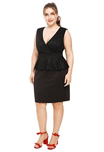 new look navy peplum dress - 5