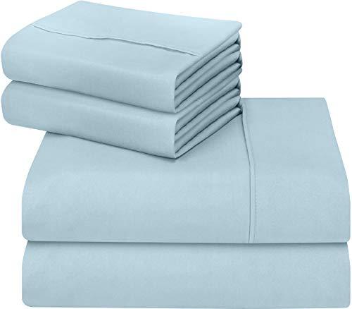 Utopia Bedding 4-Piece Queen Bed Sheets Set (Baby Blue)