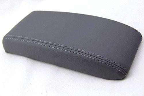 Autoguru Toyota 4Runner 96-02, Tacoma 95-00 Center Console Armrest Synthetic Leather Cover Dark Gray