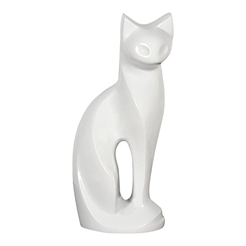 Perfect Memorials White Contemporary Cat Brass Cremation Urn ()