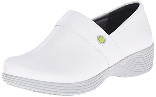 Dansko Women's Camellia Clog, White Leather, 39 Medium EU (8.5-9 US)
