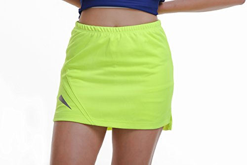 Ex:QUE YUE XING Women's Running Skorts Casual Gym Tennis Skirt with Shorts Badminton skirt