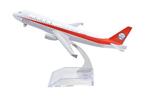 TANG DYNASTY 1/400 16cm 中国四川航空 China Sichuan Airlines エアバス A320 高品質合金飛行機プレーン模型 おもちゃ
