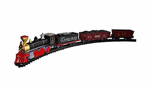 Eisenbahn Dampflock Set Lok Lokomotive Waggons Schienen mit Licht & Sound Kinder Spielzeug