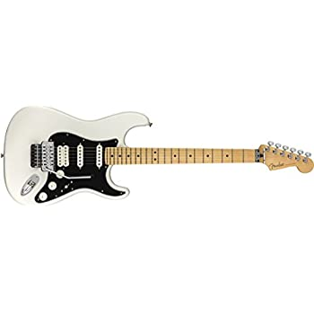 Fender Player Stratocaster Electric HSS Guitar - Floyd Rose - Maple Fingerboard - Polar White