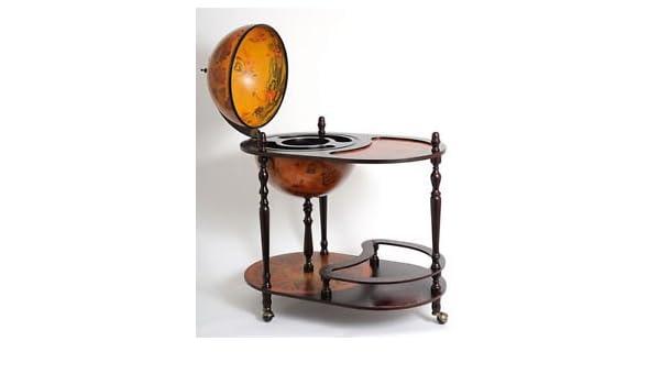 Amazon Com Unique Old World Style Globe Wooden Hidden Home Bar