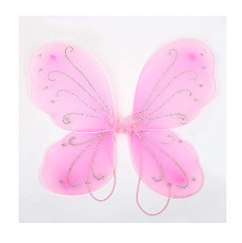 10Color Adult Gift Butterfly Wings Decor Fairy Wing Costume Dress Up Halloween Pink OneSize ()